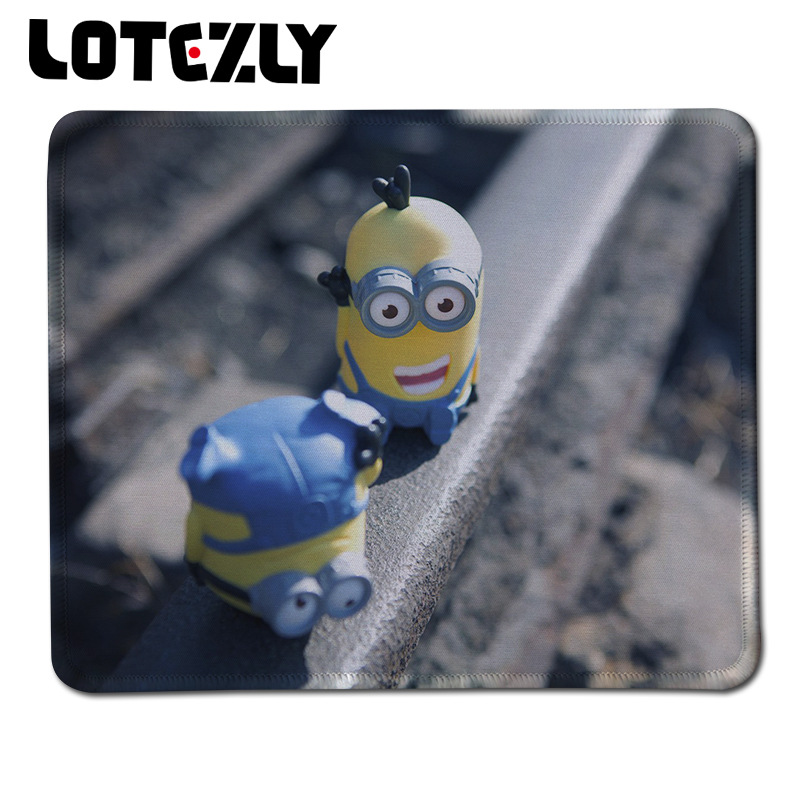 New Despicable Me Film Minions Mouse Pad Soft Rubber for Computer Gaming Speed type Comfort Mice Mat for Optical Locking Edge