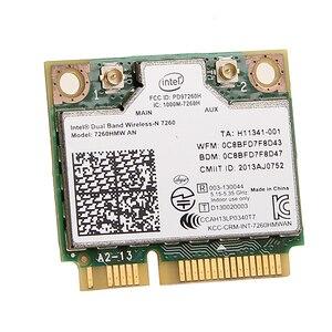 Image 4 - Dual band Für Intel Wireless N 7260 7260HMW EINE Halbe Mini Pci e 300Mbps Wireless Wifi + Bluetooth 4,0 notebook Wlan karte