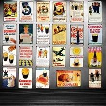 Guinness Metal Tin signs  Plaque Metal Vintage Wall Bar Home Art Retro Craft Cinema Decor 30X20CM SA-2012