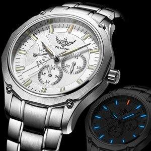 Image 2 - YELANG Tritium Montre pour hommes montres à Quartz T100 lumineux Auto Date Flyback étanche Sport Montre bracelet Montre Relogios V1027