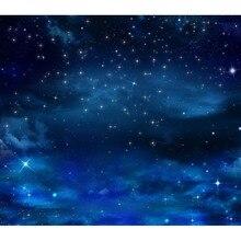 Blue Sky Glitter Star Night Custom Fotografie Achtergrond Voor Studio Foto Props Fotografische Achtergronden Doek F 2703