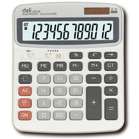 RedStar 12 Digit Portable Dual Power Electronic Calculator Large Button And Display Without AAA Battery