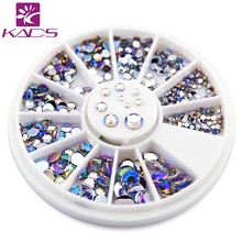 NEW 550pcs 1.5mm/2mm/2.5mm/3mm/4mm/5mm AB Round Nail Art Decorations Rhinestone for nail accessories for nail decoration