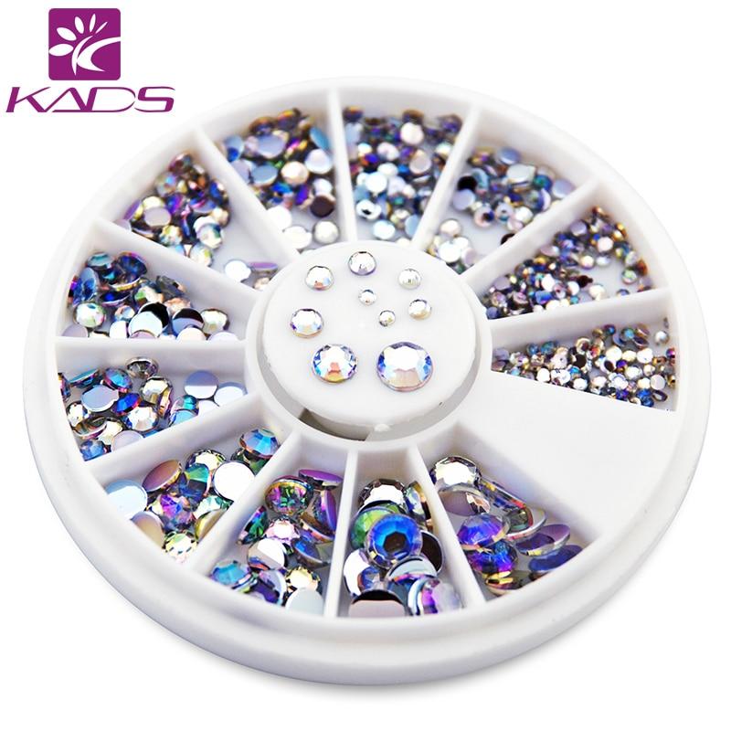NEW 550pcs 1.5mm/2mm/2.5mm/3mm/4mm/5mm AB Round Nail Art Decorations Rhinestone for nail accessories decoration