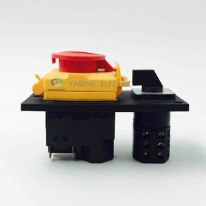 Image 5 - الكهرومغناطيسية التبديل 7 دبوس on off التبديل الروتاري مجتمعة 16a 230 فولت مع غطاء حماية قفل للماء YCZ4 C