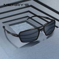 MERRYS DESIGN Men Classic Aluminum Alloy Sunglasses HD Polarized Sunglasses For Mens Outdoor Sports UV400 Protection S8276