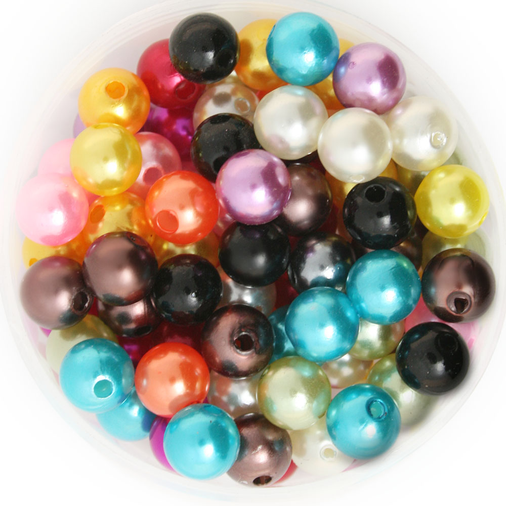 4/6/8/10mm Round ABS Imitation Plastic Beads Pearl Beads For Jewelry ...