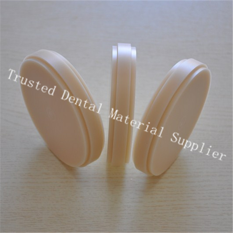 Hot ! 5 Piece OD98*10mm Dental Lab Materials PMMA Blocks Wieland System Dental PMMA Disk Blanks Teeth Mold Without Step Crown