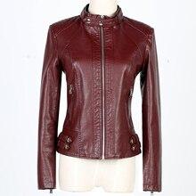 Women leather Jacket 2017 New Autumn Winter Ladies Black Faux Leather Jacket Short Slim Motorcycle Zipper Coat Female Clothing