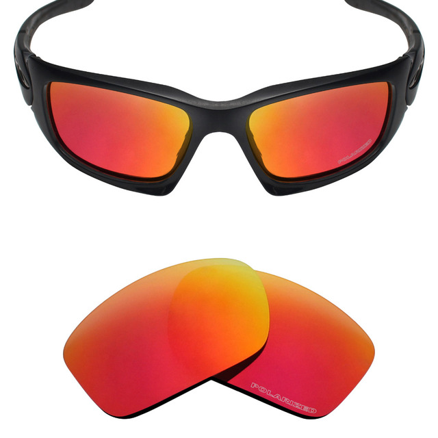 b15f8c6e7c8 Mryok+ POLARIZED Resist SeaWater Replacement Lenses for Oakley Scalpel Sunglasses  Fire Red