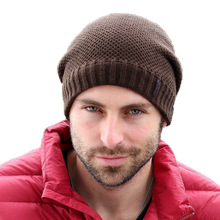 Adofeeno Autumn Winter Hats Knitted Skullies Beanie Solid Gorros Hip Hop Beanies Hats for Men Snow