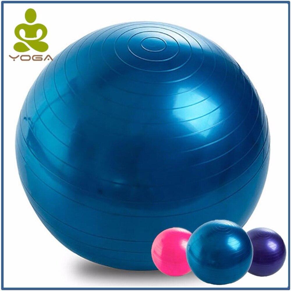 75CM PVC High Quality Large Yoga Balls For Fitness With 4 Color Option Female Pilates Balls Gymnastic Balls Balance