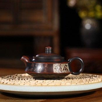 Yixing recommended all hand carved double draw household utensils nixing pottery to Zhou Pan teapot special batch
