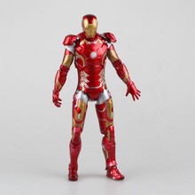 Movie Figure 23 CM The Avengers 2 Iron Man MK 43 with Light PVC Action Figure Collectible Model Toy Dolls