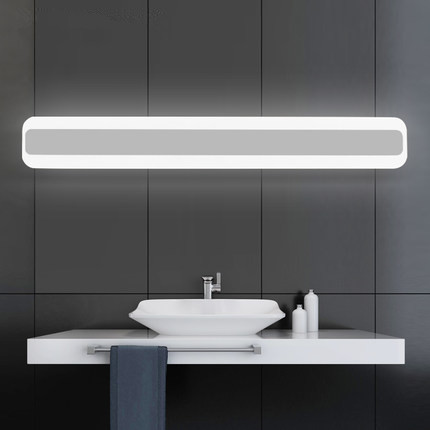 40cm Acrylic Modern LED Mirror Light Simple Bathroom Wall Lamp Fixtures For Home Lighting Indoor Bedside Lights lampada de led only minimalist modern creative bedside lamp led wall lamp mirror front lamp aisle lighting fixtures wall lights led