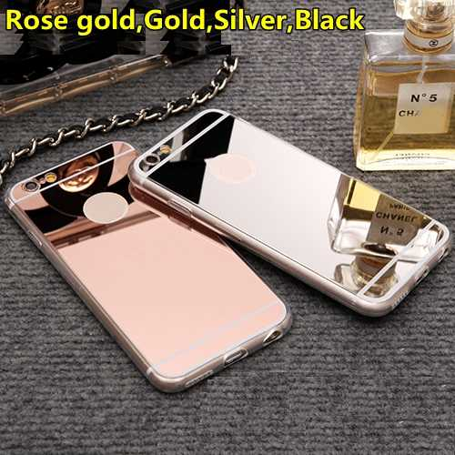 Fashion Rose Gold Luxe Spiegel Flash Case Voor Iphone 11 Pro Xs Max 7 8 6 6S Plus 5 S Se X Soft Clear Tpu Cover Voor Iphone 6S Xr