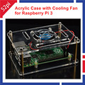 Acrylic Clear Case Enclosure with Cooling Fan for Raspberry Pi 3 / Pi 2 Model B