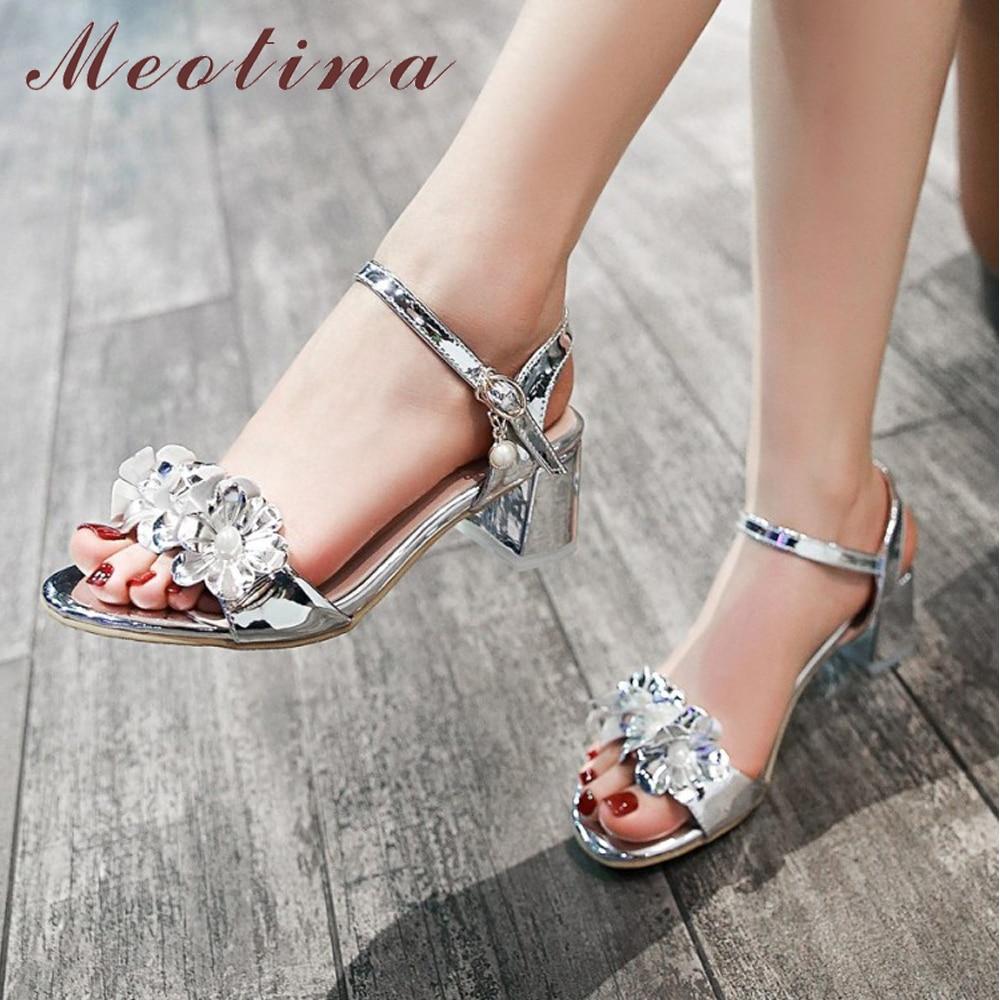 Rhinestone Flower Pink Wedding Shoes Stiletto Heel 14cm
