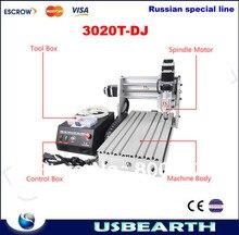 Desktop CNC Router 3020T-DJ Drilling Milling Engraver CNC Machine, Russia free tax