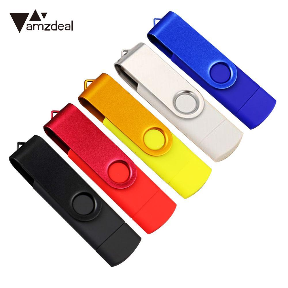 цена на AMZDEAL Wwivel USB Flash Drive Memory Stick Pen External Storage Rotate U Disk Pen Drive 512MB 1GB 2GB For Gift