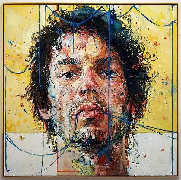 6 различных стилей абстрактная картина нож человек лицо 100% ручная работа картина маслом на холсте Эндрюс Сальгадо репродукция искусство