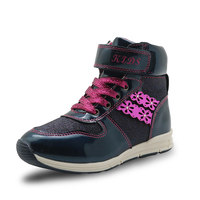 Apakowa Autumn Winter Girls Boots Pu Leather Ankle Boots For Girls Comfy Kids Flat Anti Slip