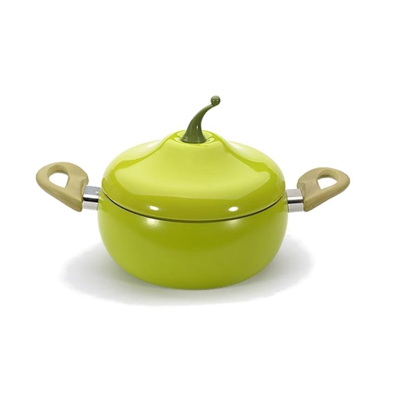 Non Stick Soup Pot Pan Aluminum Alloy Tomato Shape Sauce Pan Boiler No Fumes Home Kitchen