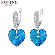 Xuping Romanti Heart Shaped Earrings Wild Style Crystals from Swarovski Color Plated for Women Wedding Gifts M62-20177