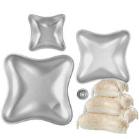 3 Pieces Aluminum Cake Mold Set Pillow Cake Baking Pan Anodized Aluminum Bread Moulds