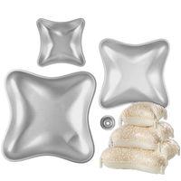 3 Pezzi di Alluminio Muffa Della Torta Set Cuscino di Cottura Della Torta Pan Pane Stampi In Alluminio Anodizzato