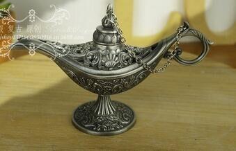 Statua decorazione outlet Oriental Vintage Argento lampada ...