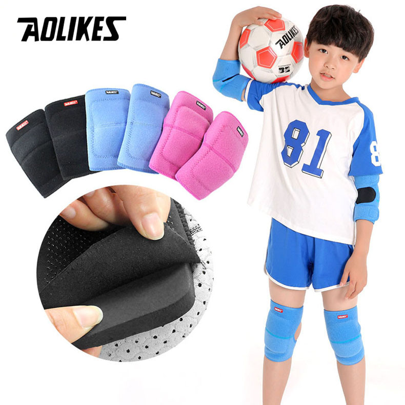 AOLIKES 1 Pair High Quality Knee Pads Support Leg Arthritis <font><b>Injury</b></font> Sleeve Elastic Bandage Elbow Pad Kneepads outdoor <font><b>sport</b></font> image