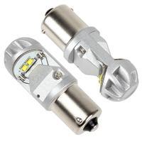 2PCS 480LM 320 Degree 1156 Aviation Aluminum Car Back Up Light 4 x 5W LEDs White Light Brake Lamp car accessories for Cars Auto