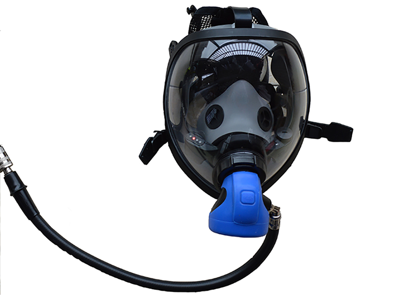 Germany Style Blue Color SCBA Mask with LDV BA Facepiece Used for Self Contained Breathing Apparatus Only