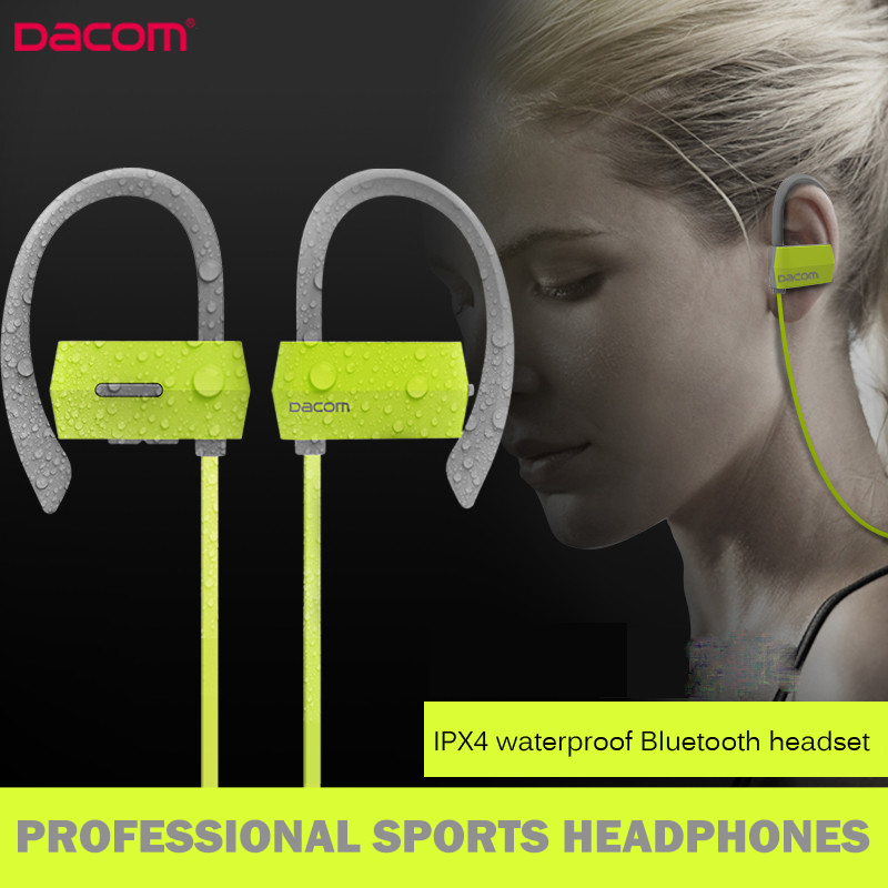 Original DACOM G18 Sports Wireless Bluetooth Earphones Stereo Earbuds Headset Bass Headphones with Mic In-Ear for iPhone Samsung running sports wireless bluetooth earphones bt 4 1 stereo bass in ear headphones headsets earbuds with mic for apple samsung lg