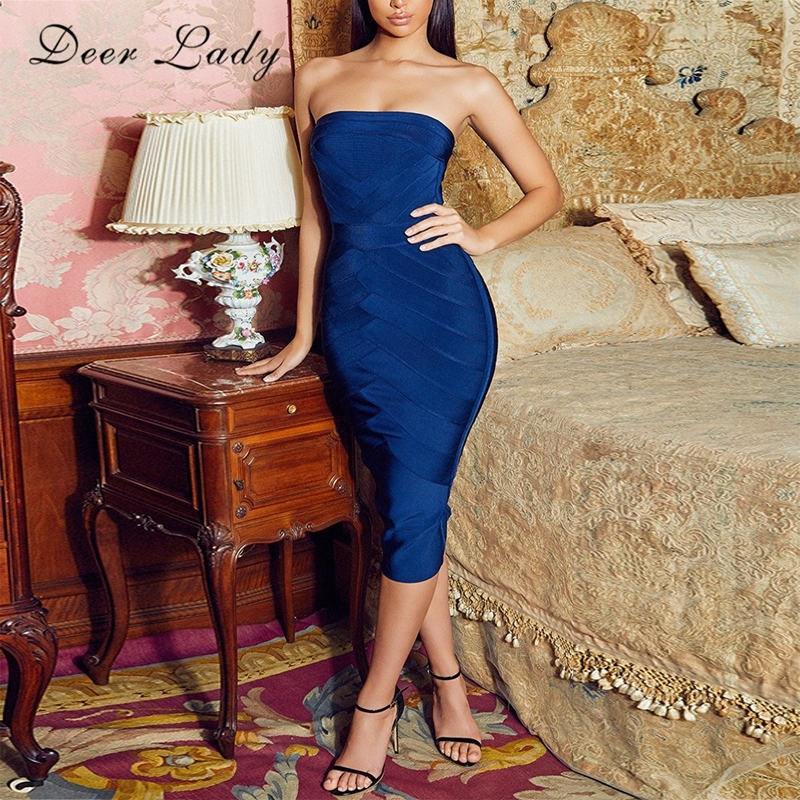 Deer Dame Verband Kleid Rayon 2017 Neue Ankünfte Frauen Sexy Liebsten Bandage Kleid Zurück Zipper Kleid Partei Bodycon-in Kleider aus Damenbekleidung bei AliExpress - 11.11_Doppel-11Tag der Singles 1