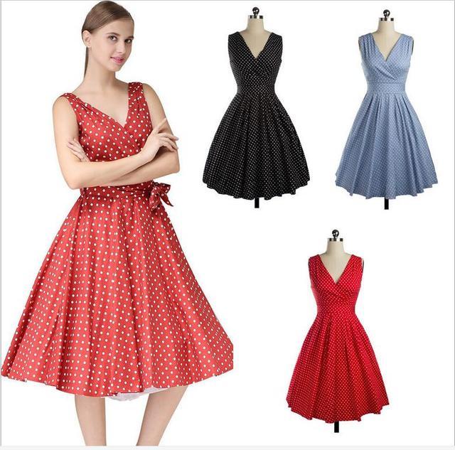 US $28.99 |Summer Style Retro Audrey Hepburn dress 2016 1950s vintage  rockabilly dress plus size women dresses-in Dresses from Women\'s Clothing  on ...