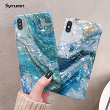 Conch pattern Marble Case on For Huawei
