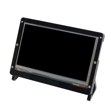 Black Acrylic Bracket for 7 inch Raspberry Pi LCD 800* 480 touch Screen Display Monitor Bracket case for Raspberry pi 3 LCD