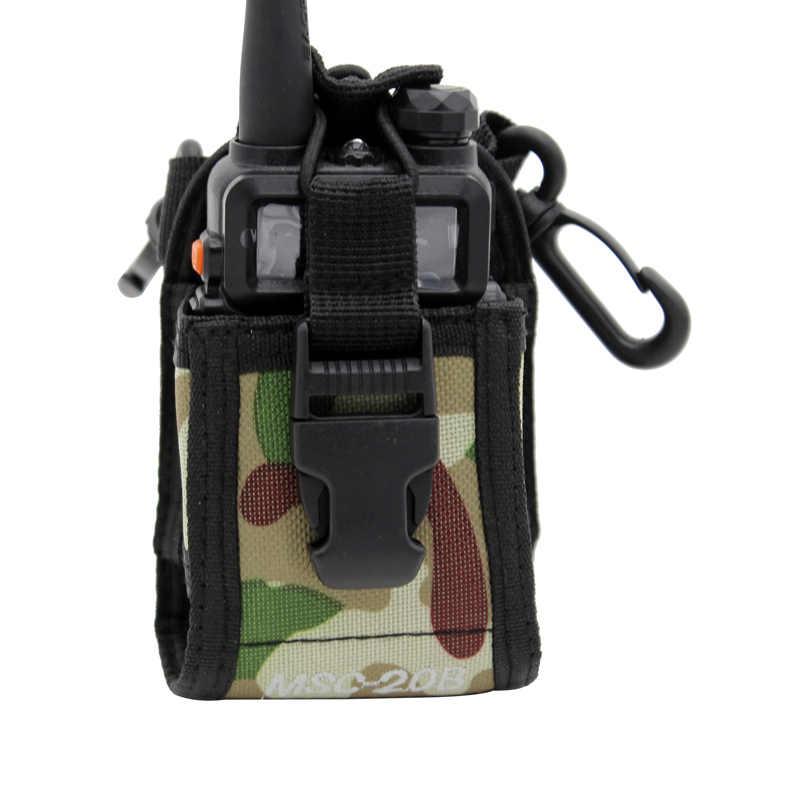 """Портативный Радио Чехол иди и болтай Walkie Talkie """"иди и сумка кобура для Kenwood Motorola BaoFeng UV-5R UV-6R UV-9R UV-82 BF-888S двухстороннее радио мешок"""
