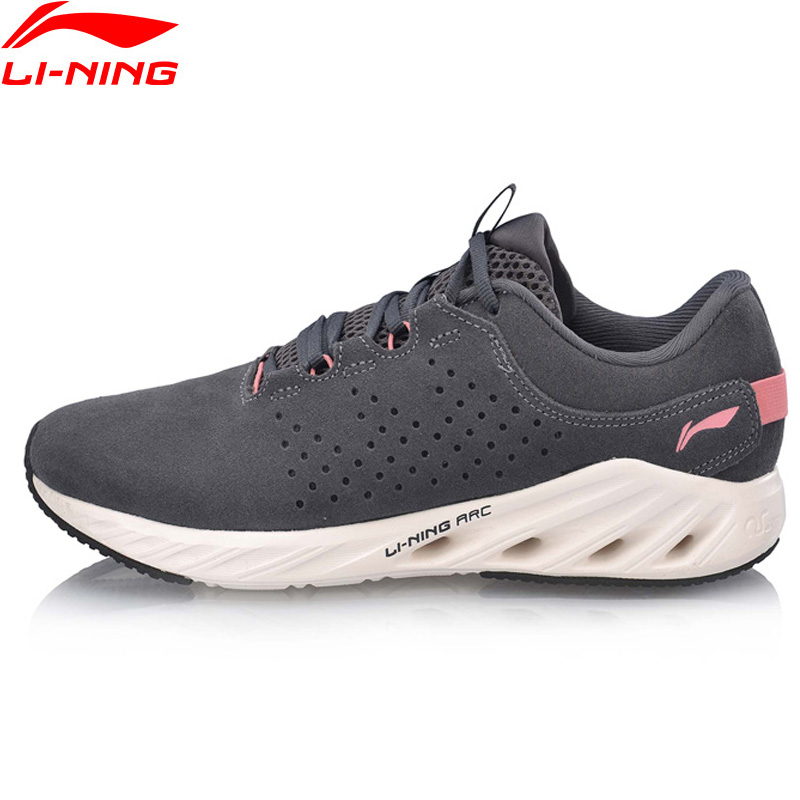 Li-Ning Women LN ARC 2018 V2 Cushion Running Shoes Light Weight Warm LiNing ARC Wearable Sport Shoes Sneakers ARHN242 XYP848