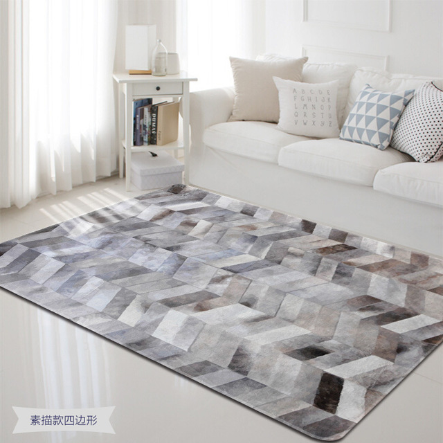 Simple Sketch Shape Carpets For Living Room Bedroom Rugs And Carpet