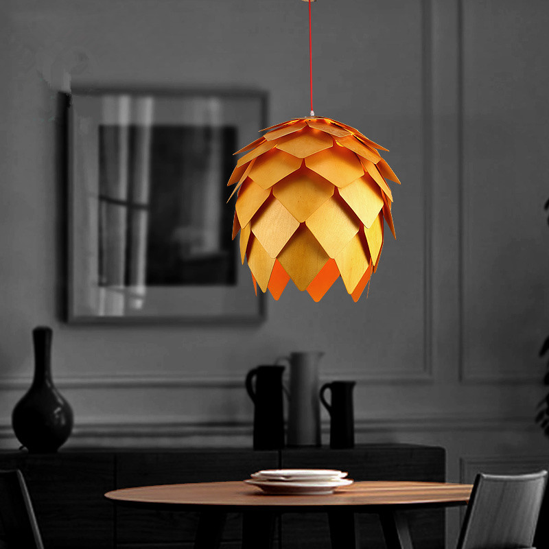 Diy Dining Room Light: Home Dining Room Pinecone Pendant Lamps Modern Wooden PH Artichoke DIY IQ Elements Jigsaw Puzzle