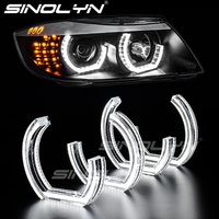 For BMW E90 E92 F30 F31 E60 E82 M3 LED Angel Eyes Halo Rings 3D DTM LCI M4 Style Turn Signal White Yellow Switchback Accessories
