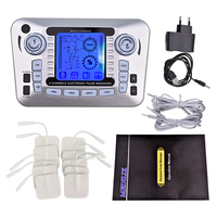 Electrical Muscle Stimulator Slimming Massager Full Body Pulse Tens Acupuncture Therapy Machine Muscle Relax Fat Burner +10 Pads