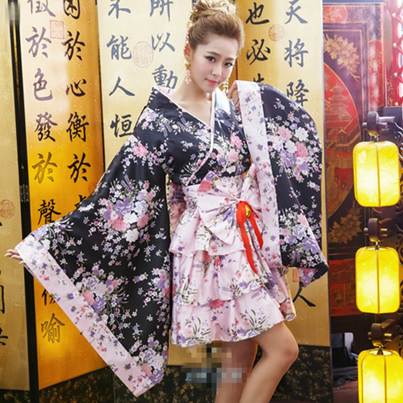 Super quality sexy romantic kimono cosplay role playing costume sexy japanese kimono women dress Eros-sexy