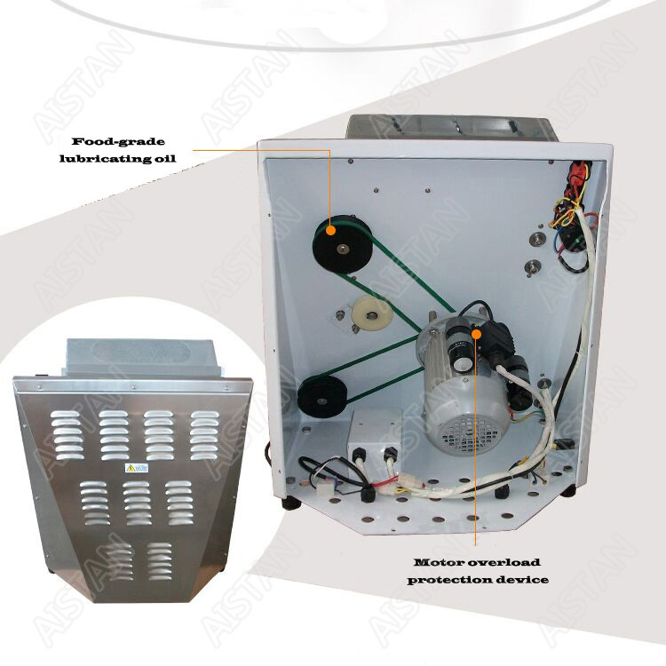 DR2A electric commercial stainless steel pizza dough roller/dough sheeter machine/dough press machine 3