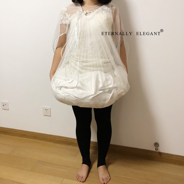 White Black New Bridal Wedding Dress Petticoat Underskirt Save You From Toilet Water Gather Skirt Slip Buddy 2018 EE982