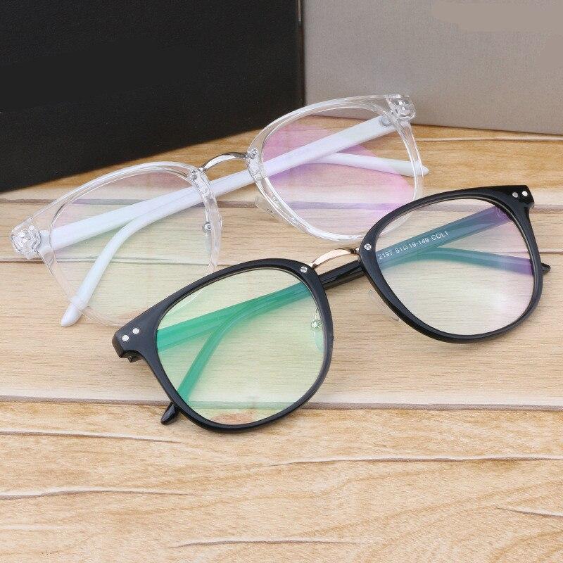 Nejnovější brýle na nadměrné velikosti Rámy Kovová noha Vintage brýle Rám Ženy Muži Falešné obyčejné brýle Módní brýle Oculos De Graus