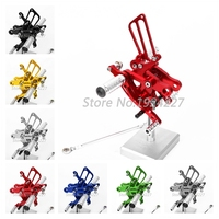 8 Colors For Honda CBR400RR&CBR900RR&CBR919RR CNC Rearsets Rear Set Moto Foot Pegs rests CBR 400 900 919 RR 400RR 900RR 919RR